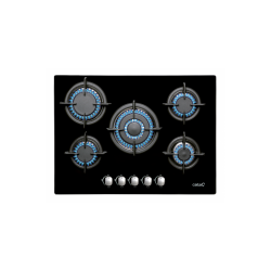 Encimera Cristal gas CATAL 705 CI BK